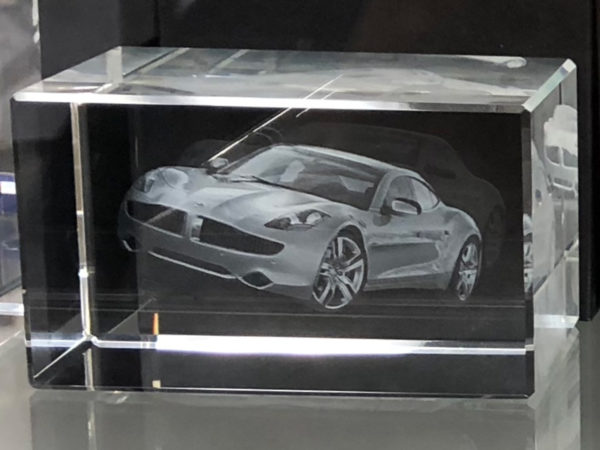 3D Crystal - Fisker Karma - Angle View