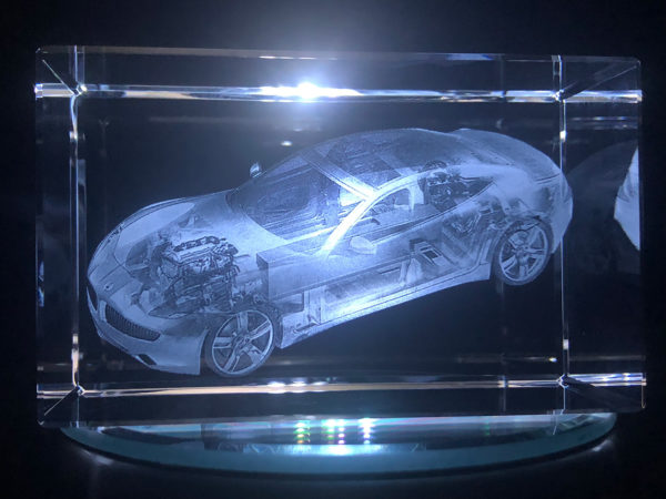 3D Crystal - Fisker Karma - Die Cut View