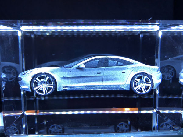 3D Crystal - Fisker Karma - Side View