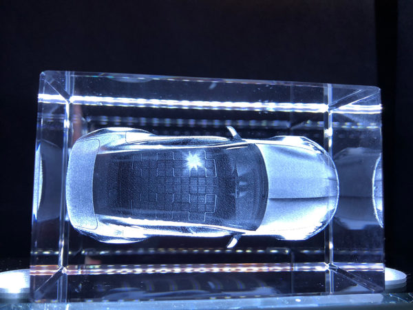 3D Crystal - Fisker Karma - Top View